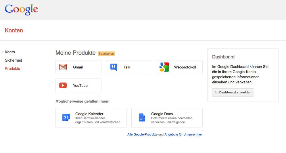 Gmail aus Google-Konto löschen
